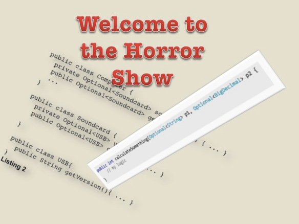 The Optional Horror Show
